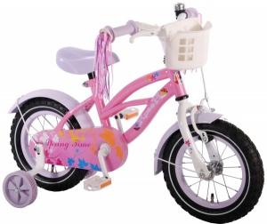 Bicicleta pentru fete 12 inch cu roti ajutatoare si cosulet Volare Yipeeh
