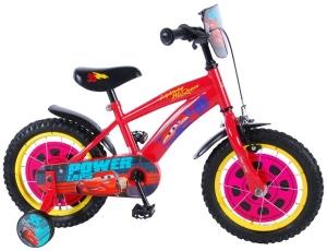 Bicicleta Volare pentru baieti cu roti ajutatoare Disney Cars 3