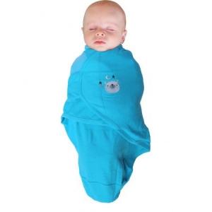 Body special bebelusi tip Wrap BO Jungle Ursulet Albastru S 3-6 kg din bumbac