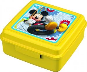 Caserola cu capac pentru gustari BBS Mickey Mouse din plastic