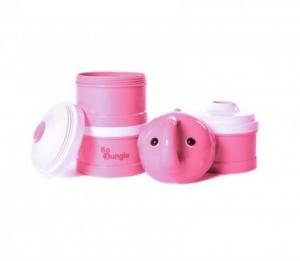 Containere lapte praf BO Jungle cu 4 compartimente Elefant Roz