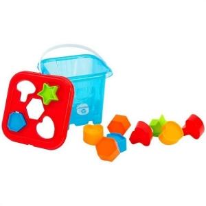 Galetusa cu piese de sortator Globo Vitamina G 10 piese geometrice multicolore