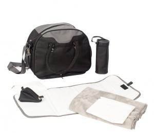 Geanta multifunctionala cu accesorii incluse BO Jungle pentru bebelusi neagra