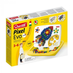 Joc creativ Pixel Evo Quercetti creatie imagini si desene mozaic pentru baieti 160 piese