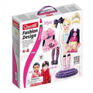 Joc creativ si indemanare Quercetti Fashion Design Imbraca Manechinul Mya 20 piese