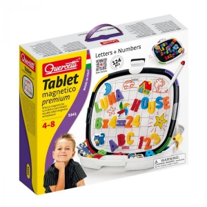 Joc creativ Tablet Magnetico Premium Letters and Numbers Quercetti litere si numere magnetice