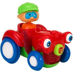 Jucarie bebelusi Vitamina G Tractor cu figurina Lumini si sunete