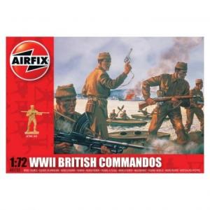 Kit soldati Airfix 01732 Set 40 soldati WWII Comando Britanic scara 1:72