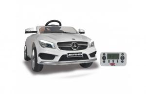 Masinuta electrica pentru copii Mercedes CLA45 AMG Jamara 460245 alb si control parental 12V