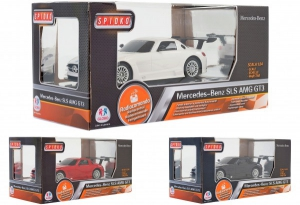 Masinuta Mecedes-Benz SLS AMG GT3 toate functiile cu telecomanda si licenta scara 1:24