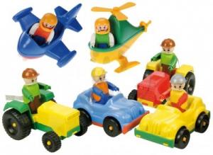 Masinute plastic cu figurina Lena
