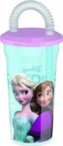 Pahar pentru copii BBS cu pai spiralat Frozen 400ml