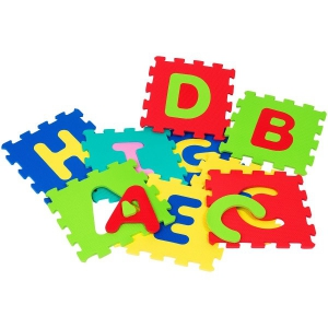 Puzzle burete pentru copii Globo Vitamina G Litere 9 bucati