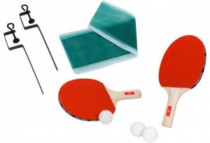 Set 2 palete de ping pong cu fileu inclus si 3 mingi