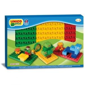 Set 3 placi Unico pentru constructie colorate