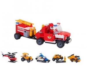 Set Constructie 2 Vehicule pentru Copii GLOBO CUBIX