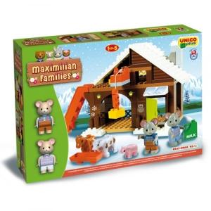Set constructie Unico Maximilian Families Refugiul Montan 93 piese