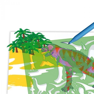 Set creativ pentru copii Forme Dinozauri Quercetti