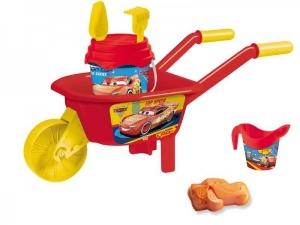 Set plaja Cars Mondo pentru copii cu roaba, jucarii plaja si galetusa