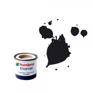 Vopsea modelism Humbrol 0237 Email Numar 21 Black Gloss 14 ml