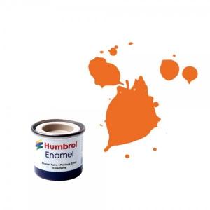 Vopsea modelism Humbrol Email 0196 Numar 18 Orange Gloss 14 ml