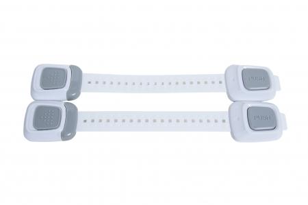 SET 4 sigurante flexibile cu incuietoare dubla pentru usi si sertare, 25 cm - Diverse culori4