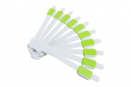 SET 10 protectii flexibile si ajustabile pentru usi si sertare verde, 23 cm0