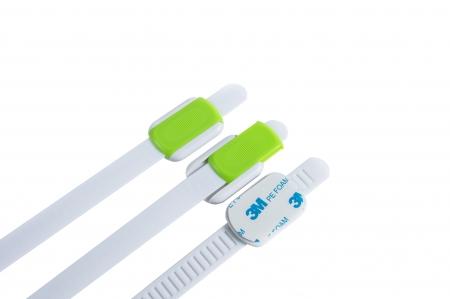 SET 10 protectii flexibile si ajustabile pentru usi si sertare verde, 23 cm2