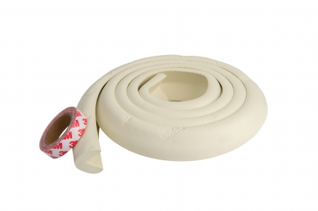 Banda protectie groasa alb pentru muchii si margini 3.5x1.2x200 cm