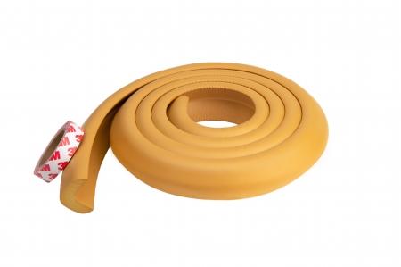 Banda protectie groasa maro deschis pentru muchii si margini 3.5x1.2x200 cm