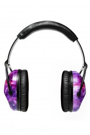 Casti antifonice pentru copii Purple Galaxy
