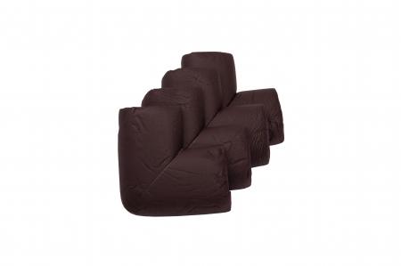 Protectie colturi mobilier, Maro, 4 bucati, 5.5x3.5x1.2 cm