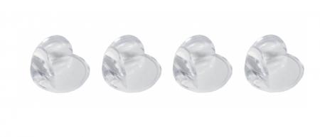 SET 4 protectii rotunde silicon transparent, 4.3x3.0x2.0 cm0