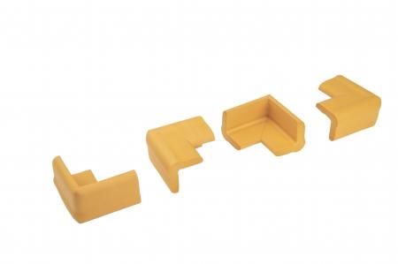 Set portocaliu 4 bucati mamut protectii colturi mobilier, 4x1.3x7 cm