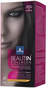 Beautin Colagen Lichid cu Capsuni si Vanilie + Magneziu 500 ml Myelements