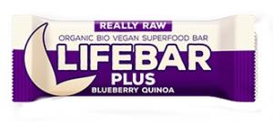 Lifebar Plus Baton Cu Afine Si Quinoa Raw Bio 47 g Lifefood
