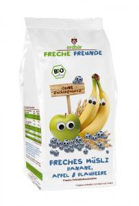 Musli Cu Banane, Mere Si Afine Bio 200 g Erdbar