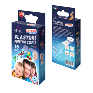 Plasturi Copii Tattoo Effect 16 buc Minut