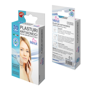 Plasturi Antiacneici 30 buc Minut