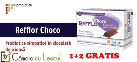 Refflor Choco 10tab - Hyllan Pharma 1+2 GRATIS
