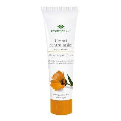 Cremă pentru mâini reparatoare cu extract de gălbenele şi vitaminele A, F, şi pantenol - Cosmetic Plant