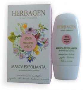 Masca Exfolianta Ten Sensibil sau Cuperozic 50 ml Herbagen