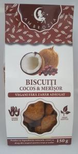 Biscuiti Vegani cu Merisor si Cocos fara zahar 150 gr0