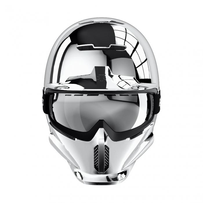 Casca Ruroc RG1-DX Chrome 1