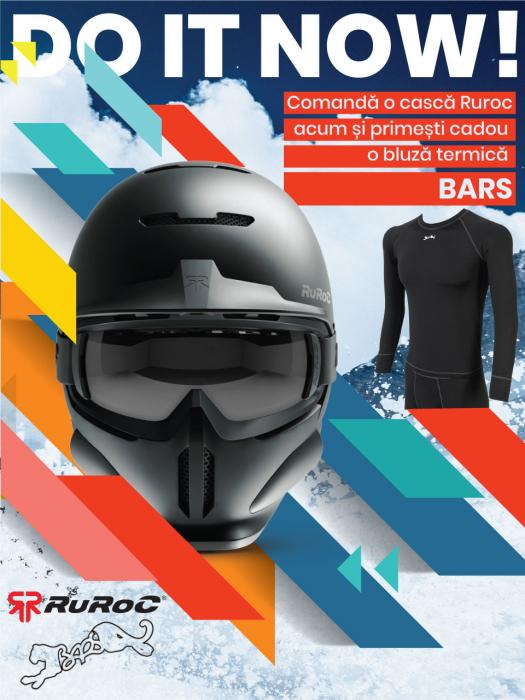 Casca Ruroc RG1-DX Chrome 9