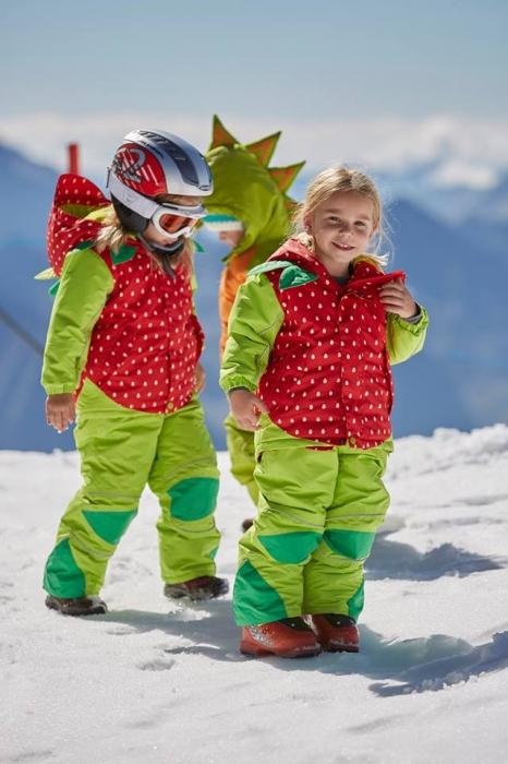 Costum schi Flashy Stars Strawberry 6