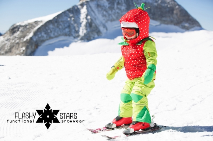 Costum schi Flashy Stars Strawberry 5
