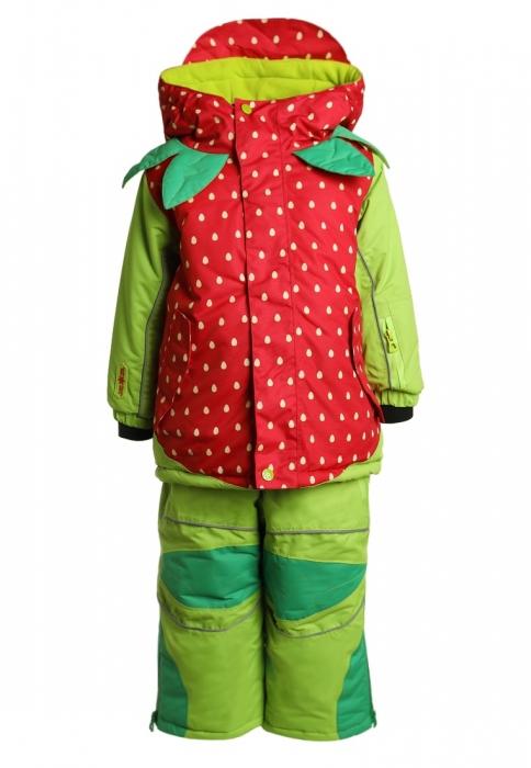 Costum schi Flashy Stars Strawberry 0