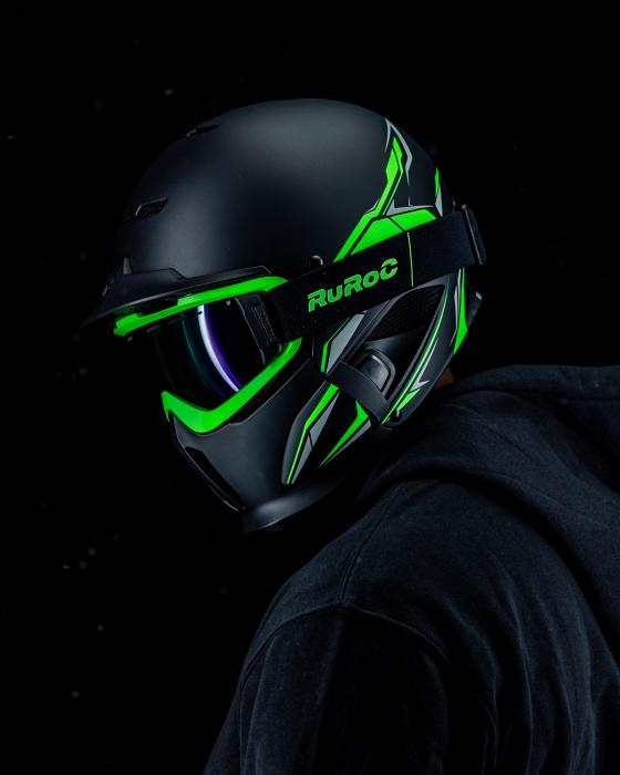 Casca Ruroc RG1-DX Chaos Viper 2