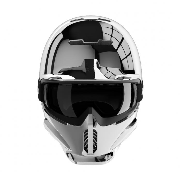Casca Ruroc RG1-DX Silver Chrome 1